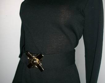 Awesome 60s 70s vintage little black dress LBD S M 36 bust