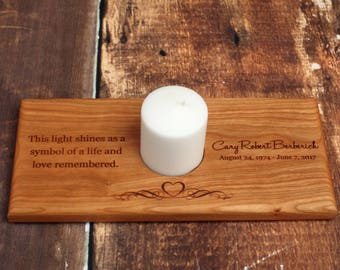 Memorial Candle Holder, Personalized Memorial Candle, Personalized Memorial Candle Holder, In Memory Of, Remembrance Sympathy Gift