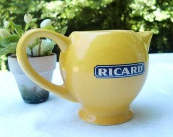 Pichet RICARD Vintage Français, bistro, pichet à eau, pastis, petit apéro, céramique