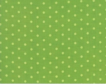 1 1/8 YARDS REMAINING Caravan Roundup  Green Tonal Dot Yardage by Mary Jane Butters for Moda Fabrics 100% Cotton #11645 17