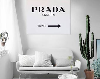 Modern painting Classic Design Prada Marfa - ready to hang - wall art decor - wall pictures - home decor - paintings art canvas - wall decor