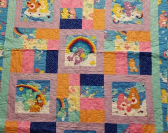 Twin size Carebear quilt