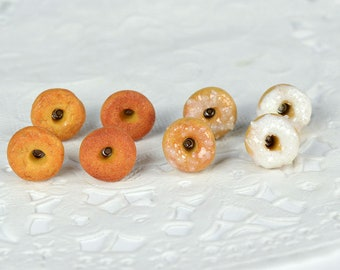 Chips donuts, donuts, gourmet gem, jewel sweet dowels creation in polymer, polymer clay donuts, polymer clay, miniature food jewelry food