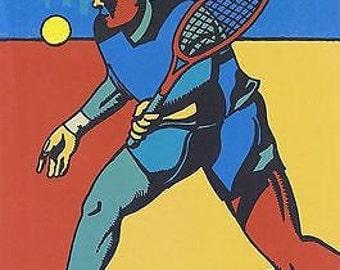 2008 US Open Tennis Poster A3 Print