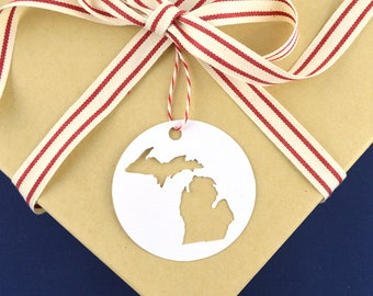 Holiday Gift Toppers, Christmas Gift Tag Pack, Michigan Gift Tags, Midwest Christmas, Set of 6 Gift Tags Perfect for Holiday Gift Wrapping