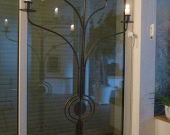 Handmade 5-Burner candle chandelier