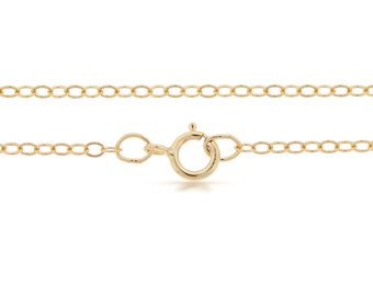 Finished Chains with spring ring clasp 14Kt Gold Filled 2.2x1.6mm 24 Inch Flat Cable Chain - 1pc (2822)/1
