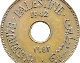 1942 Ten Mils Palestine Coin