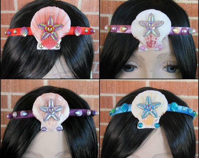 Mermaid Crown, Sea Shell Crown, Mermaid Headband, Shell Crown, Mermaid Costume, Mermaid Tiara, Seashell Tiara, Kid Costume Accessory