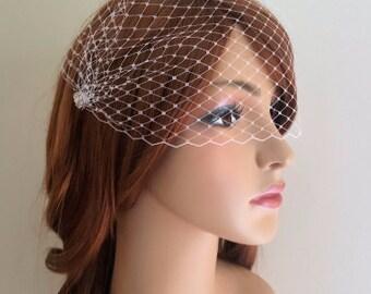 Birdcage Veil, mini veil, wedding veil, boho bride, Bridal veil, Bandeau Veil, vintage veil, small birdcage veil, mini wedding veil