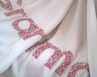 Supersoft  personalised blanket / throw - Liberty of London Fabrics