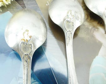 Vintage spoons - silver - spoons coffee spoons - French - old spoons - teaspoons dessert spoons