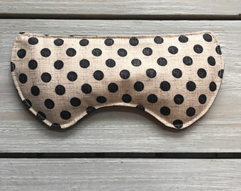 Heat Therapy,Dry eyes,Microwavable Eye Rice Pad, Hot compress, cold compress, cozy gift ,Microwavable Eye Mask,Eye Rice Bag,relax,polka dots