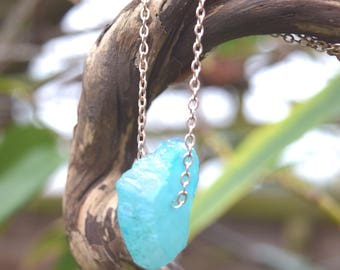 Aqua Aura Rose Gold Necklace