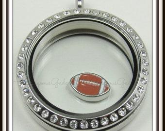 Football Floating Charm for Glass locket / Floating Locket