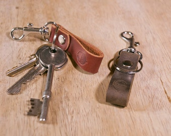 Leather Keyring Clip + FREE personalisation