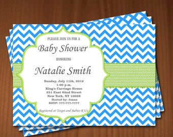 Baby Shower Invitation Boy Baby Shower invitations Printable Baby Shower Invites -FREE Thank You Card - editable pdf Download (595) blue