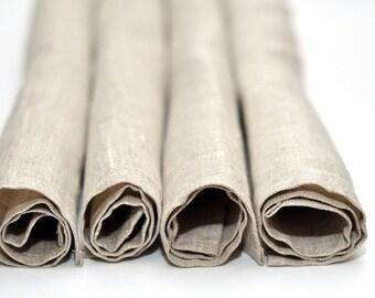 """Set of 4 Linen Napkins. Size: 13"""" x 13"""" (33cm x 33cm)"""