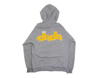 90s DADA SUPREME HOODIE  dada zip up hoodie urban hip hop gray street wear hooded sweatshirt supreme king 1990s Vintage Adult Medium