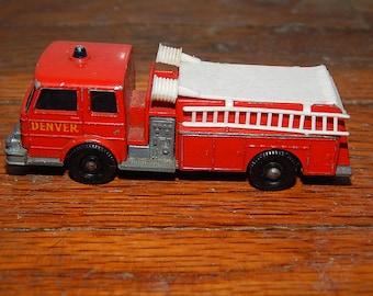 Vintage . Lesney . Matchbox Series No 29 . Fire Pumper Truck