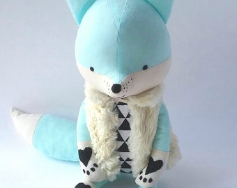AKI the fox. made-to-order. eco fox. stuffed fox. woodland animals. christmas gift.