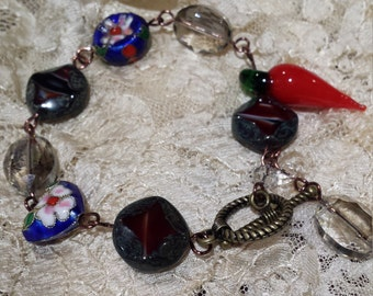 bracelet with assorted stones and colors