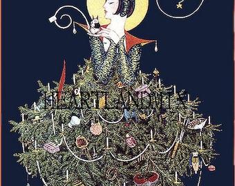 Art Deco Vintage Christmas Image