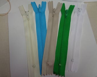 Various colors of 5 Inch Doll Clothes Zippers