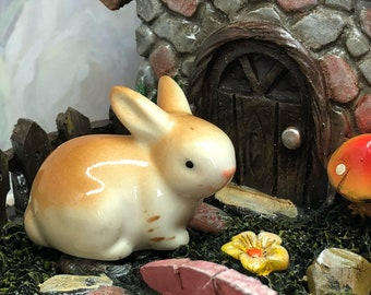 Fairy Garden Bunny ~ Mini Bunny ~ Mini Rabbit ~ Miniature Fairy Garden Animal ~ Terrarium Decoration ~ Tiny Bunny ~ Gnome Village Bunny