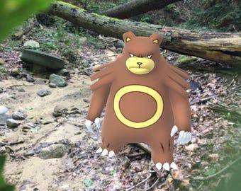 Ursaring Pokemon GO Photography Print