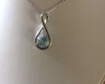 Blue Topaz Necklace Earrings Sets