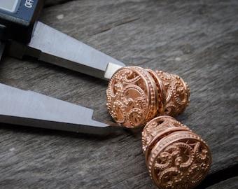 Ombak Segara Subeng Rose Gold Earrings / 925 Sterling Silver / Rose Gold Plated / Balinese Subeng / Stud Earrings / Fine Quality