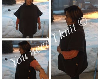 Knitted poncho/ handmade poncho/ knitted shawl/ poncho knitted/ stylish poncho/ mommy and me fashion/ poncho handmade