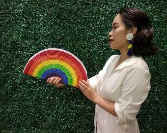 Empanada clutch in Rainbow