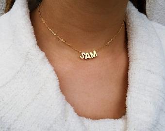 Gold Initial Choker Gold Name Choker Custom Choker Gold Capital Letter Necklace Gold Choker Necklace Personalized Choker