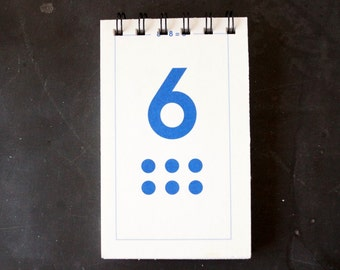 Vintage Flash Card Notebook, Number 6 (50 various pages) - Perfect for To-Do Lists, Shopping Lists, and Big Ideas