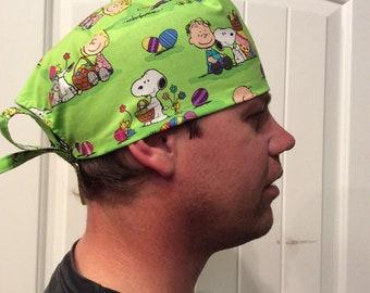 Peanut's Easter Scrub Hat