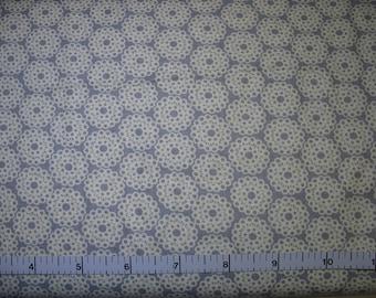 1 Yard, White Lace on Gray Cotton