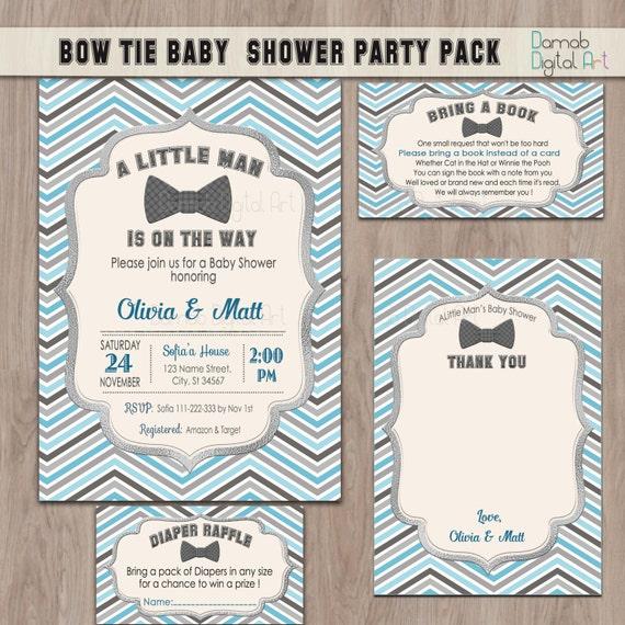 Bow tie baby shower invitation boy baby shower invitation like this item filmwisefo