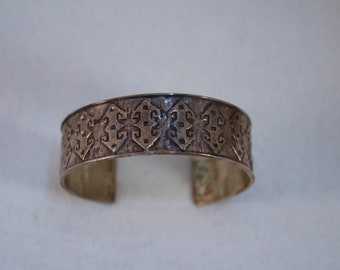 c1950's Cerci Sterling Bangle Bracelet