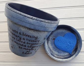 Large Planter - Pet Sympathy Gift - Dog Memorial Gift - Painted Flower Pot - Pet Memorial Planter - Cat Memorial Gift