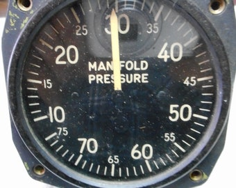 Vintage aircraft etsy vintage aircraft manifold pressure gage reduced to 3800 thecheapjerseys Gallery