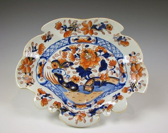 Antique Masons Patent Ironstone China Imari style Serving Dish
