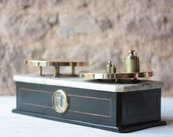 Antique French Apothecary Scale & Weights