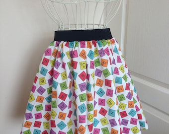 Ladies or girls Periodic Table skater style full skirt
