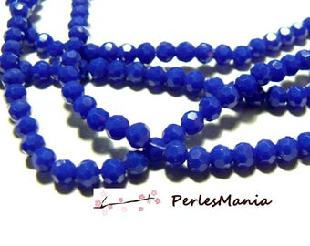 1 strand of approximately 100 beads round faceted glass 4mm blue ROYAL H166402L