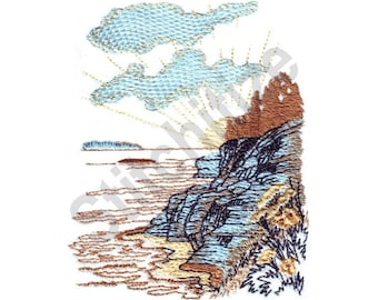 Seaside Landscape - Machine Embroidery Design, Seaside