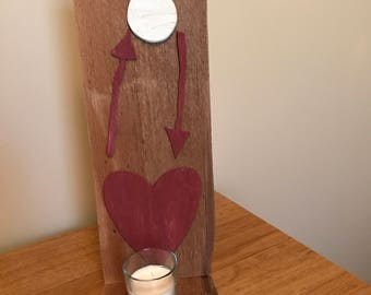 I love you to the moon and back candle holder