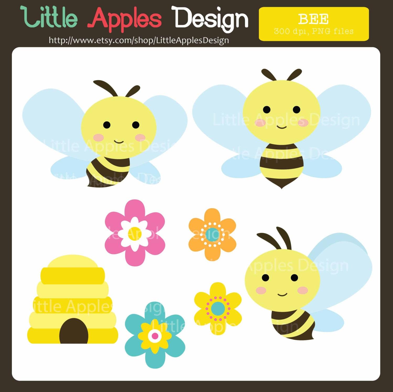 Bee Clip Art / Bee Clipart / Bumble Bee Clipart / Bumble Bee