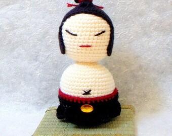 Free Amigurumi Kokeshi Doll Patterns : Crochet amigurumi doll pattern wedding kitty couple amigurumi